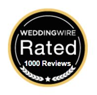 WeddingWire Rated 1000 reviews